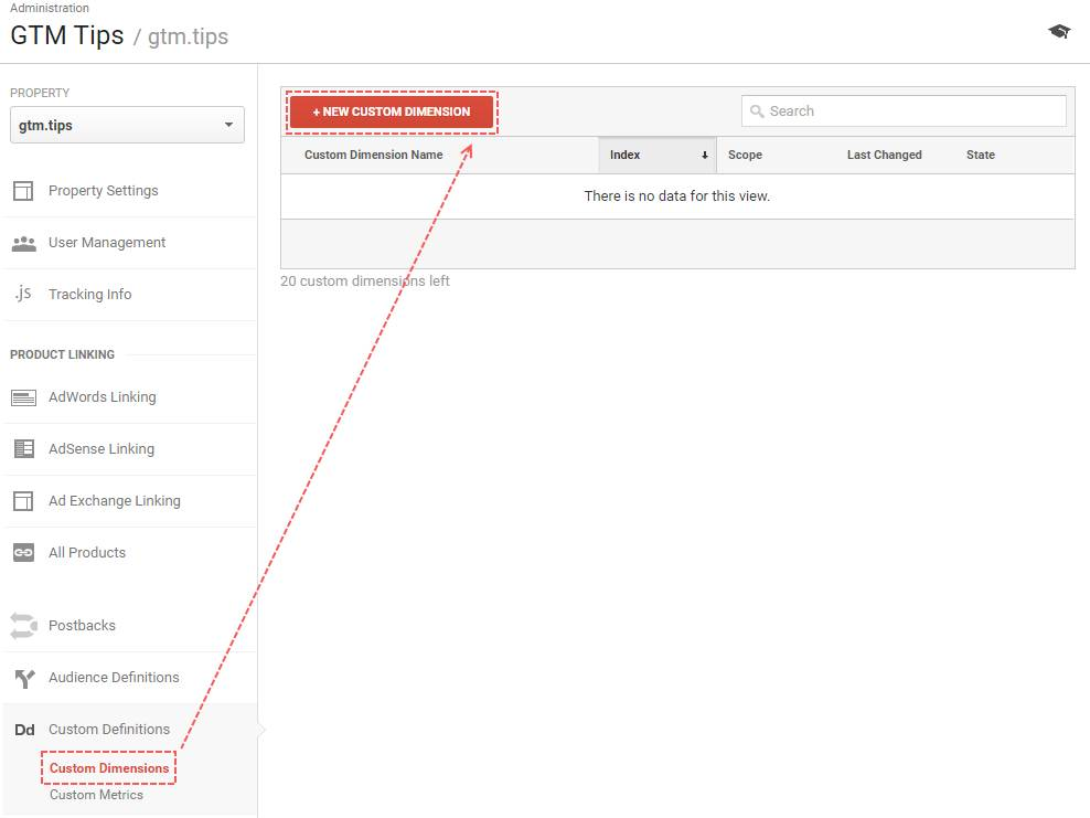 Creating Custom Dimension in Google Analytics