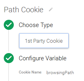 Creating 1st Party Cookie Variable